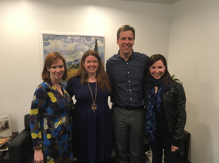 Special guests Jen MacLean and Jeff Kinney with co-hosts Amy Oztan and Rebecca Levey of Parenting Bytes