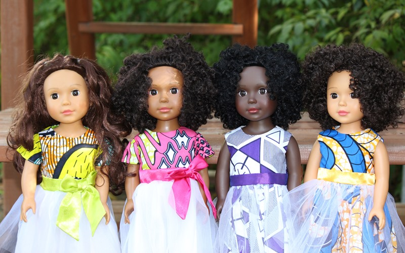 Four dolls of color from Ikuzi Dolls
