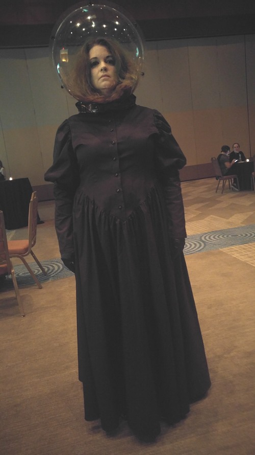 Parenting Bytes Podcast - Amy's Madame Leota costume from The Haunted Mansion