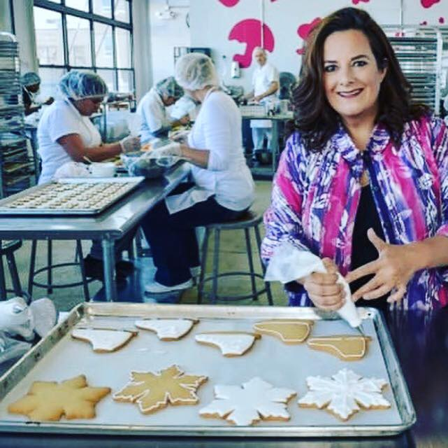Eleni Gianopulos with her cookies